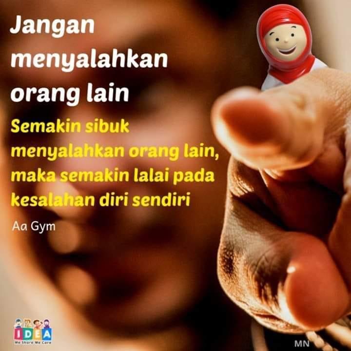 Jangan Menyalahkan Orang Lain Semakin Sibuk Menyalahkan Orang Lain Maka Semakin Lalai Pada Kesalahan Diri Sendiri 0838 4677 7272 Agen Hafiz Doll Smart Hafiz Produk Alqolam